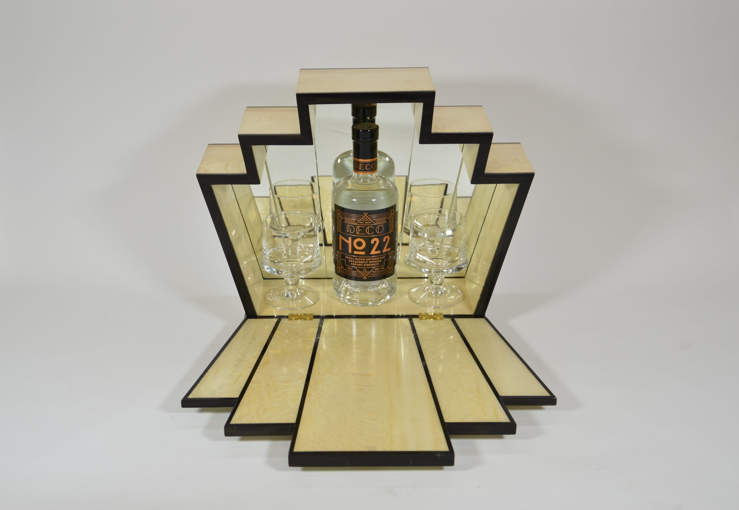 Dog and Duck Woodwork Gin Cabinet 2